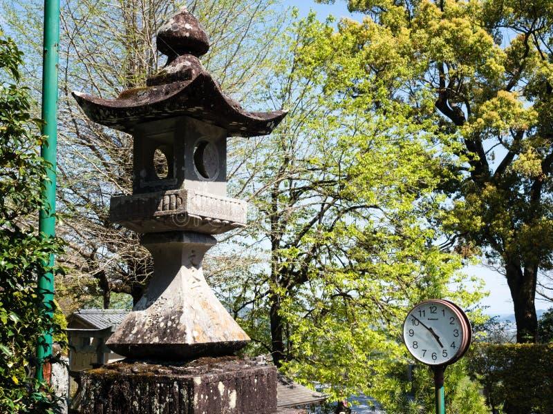 On the grounds of Kiyotakiji, temple number 35 of Shikoku pilgrimage. Kochi, Japan - April 7, 2018: On the grounds of Kiyotakiji, temple number 35 of Shikoku royalty free stock photography