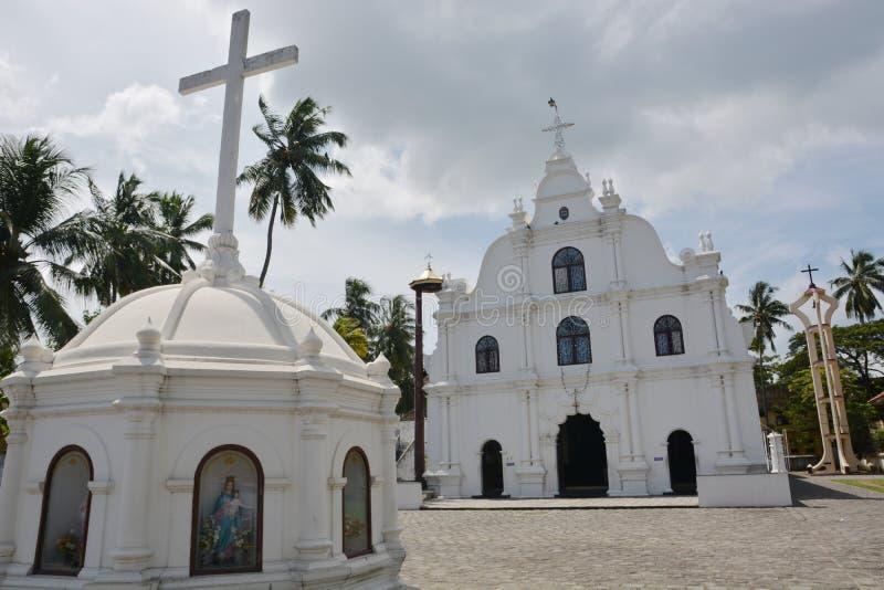 Kochin houses. Kochin, India - November 1, 2015 - Coonan Kurisu church in Mattancherry, Kochin, India stock image
