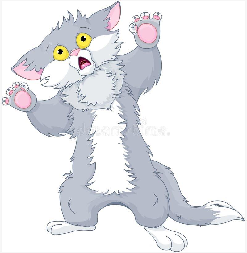 kociak przeraziła ilustracji