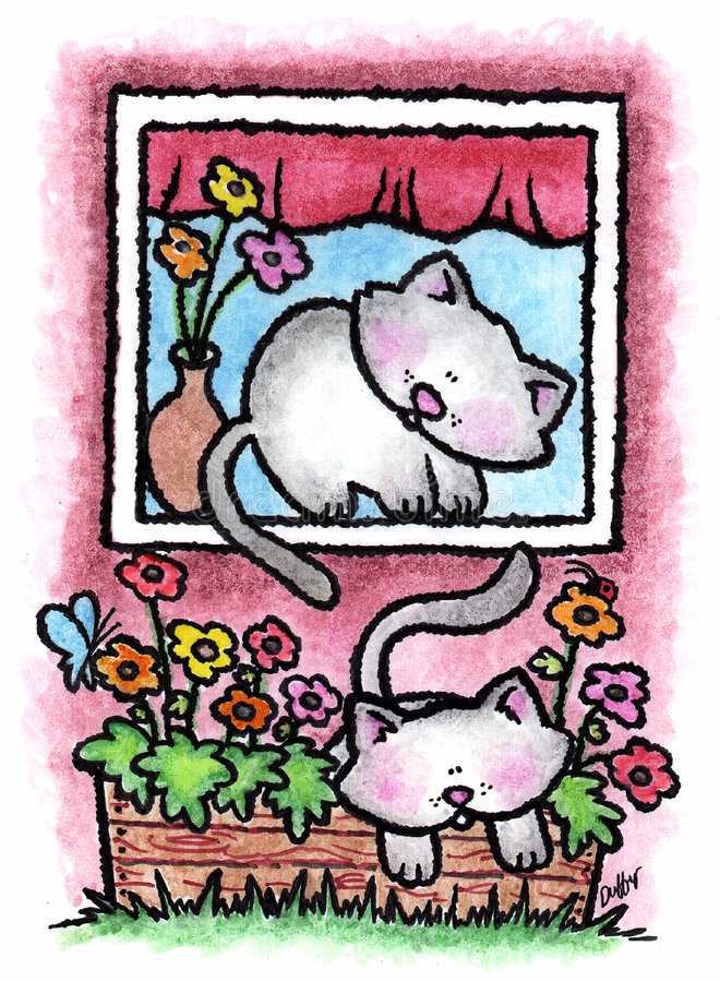 kociaki royalty ilustracja