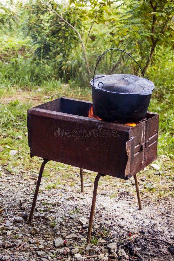 Kocioł na grillu zdjęcie stock