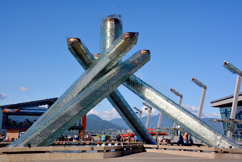 2010 kocioł olimpijski zdjęcie royalty free