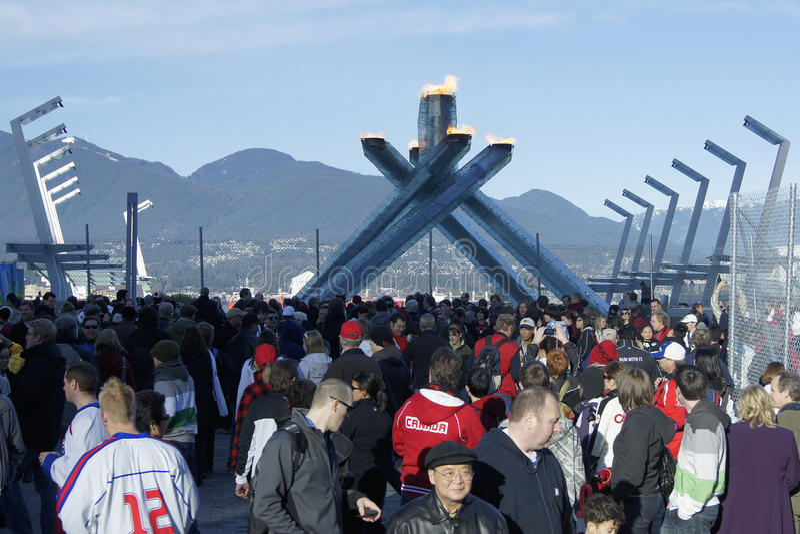 kocioł olimpijski Vancouver obrazy royalty free