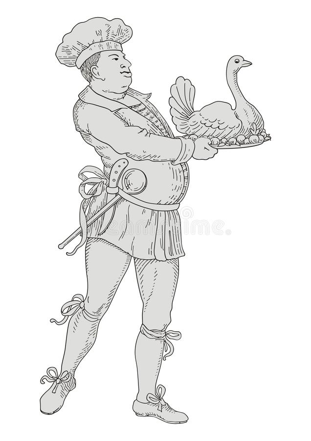 kock royaltyfri illustrationer