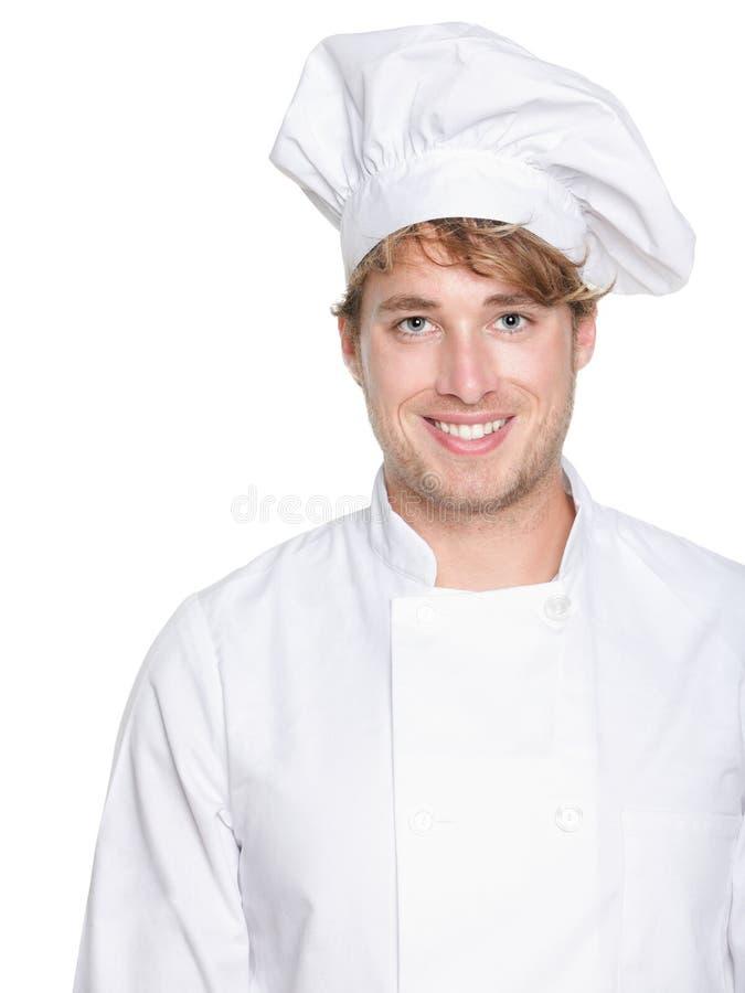 Kock, bagare eller manligkock fotografering för bildbyråer
