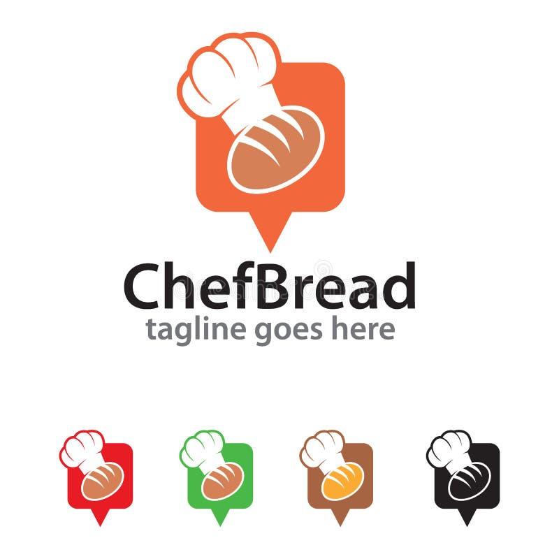 Kock Bread Logo Template Design Vector royaltyfri illustrationer