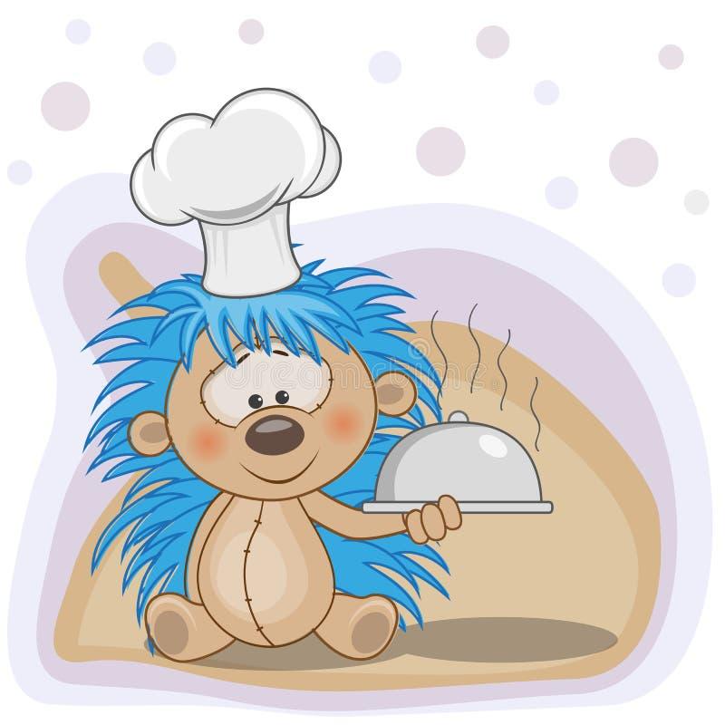 Kock Hedgehog royaltyfri illustrationer