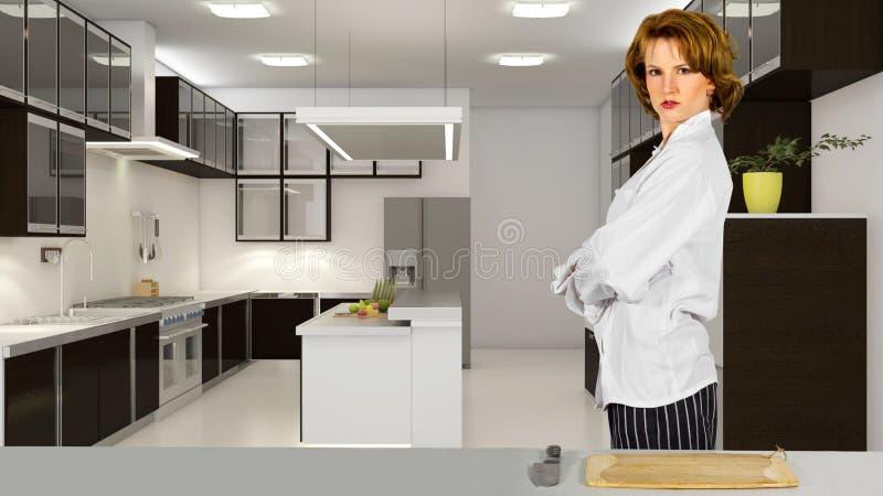 Kock i ett kök arkivbilder
