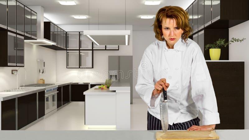 Kock i ett kök royaltyfri foto