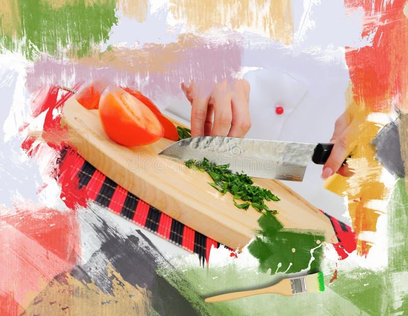 Kock i likformig vektor illustrationer