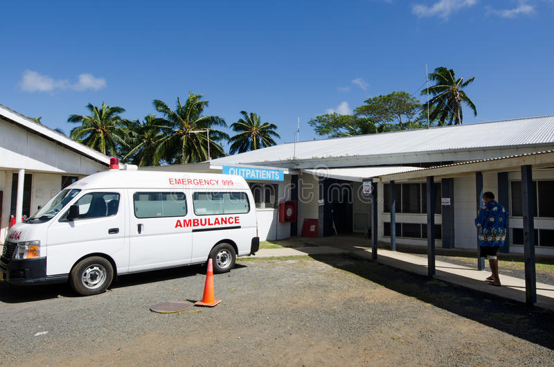 Kock Island Hospital i den Rarotonga kocken Islands arkivfoto