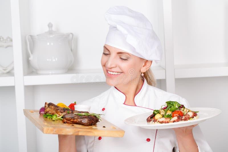 Kock-kock som framlägger mål arkivbilder