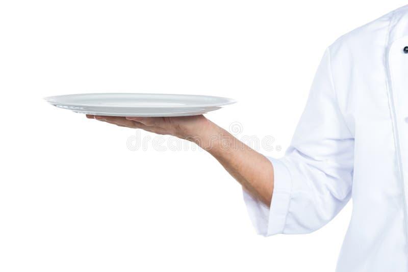 Kock med plattan arkivbilder