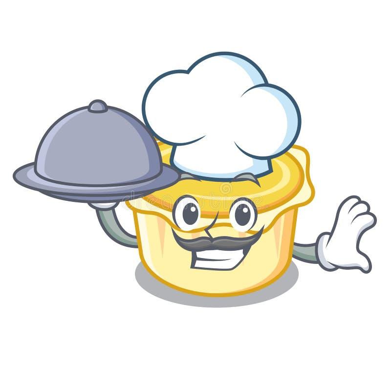 Kock med tecknade filmen för maskot för matägg den syrliga stock illustrationer