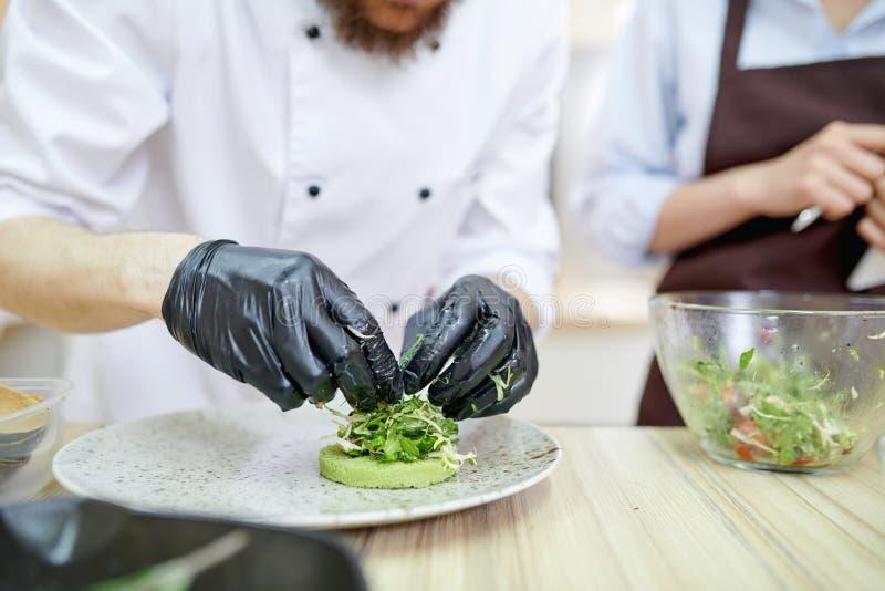 Kock Plating Dishes arkivbild
