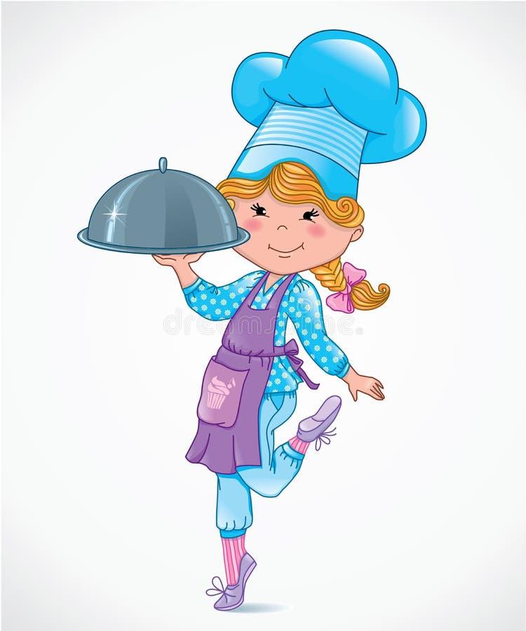 Kocken behandla som ett barn royaltyfri illustrationer