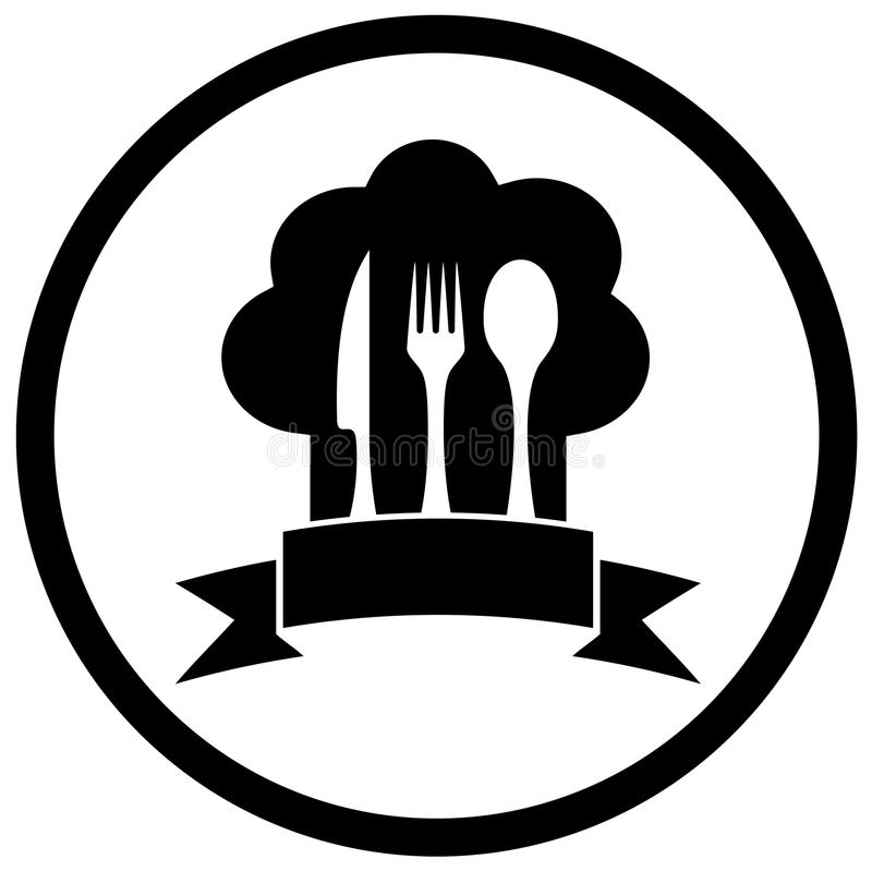 Kockhatt med kökware stock illustrationer