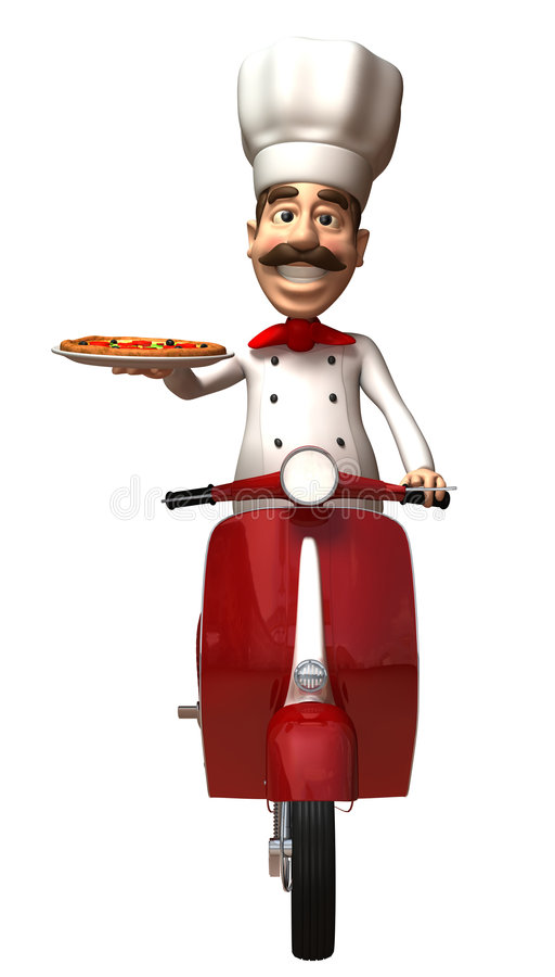 kockitalienarepizza stock illustrationer