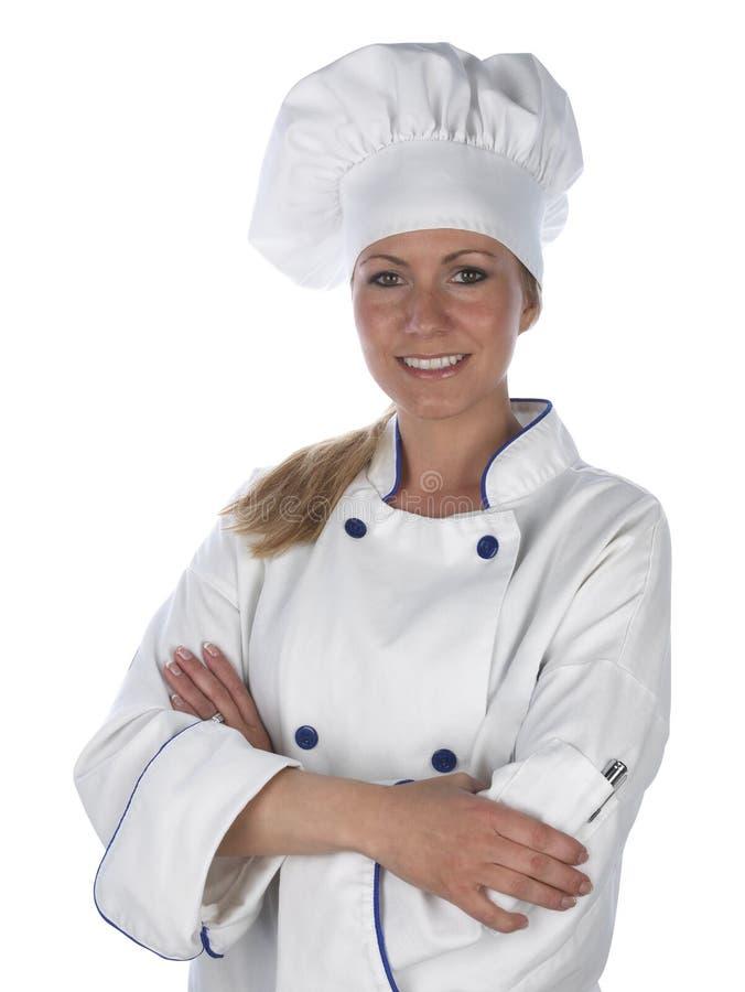 kockkvinnlig arkivbilder