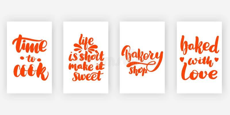 kocktid till Liv är stock illustrationer