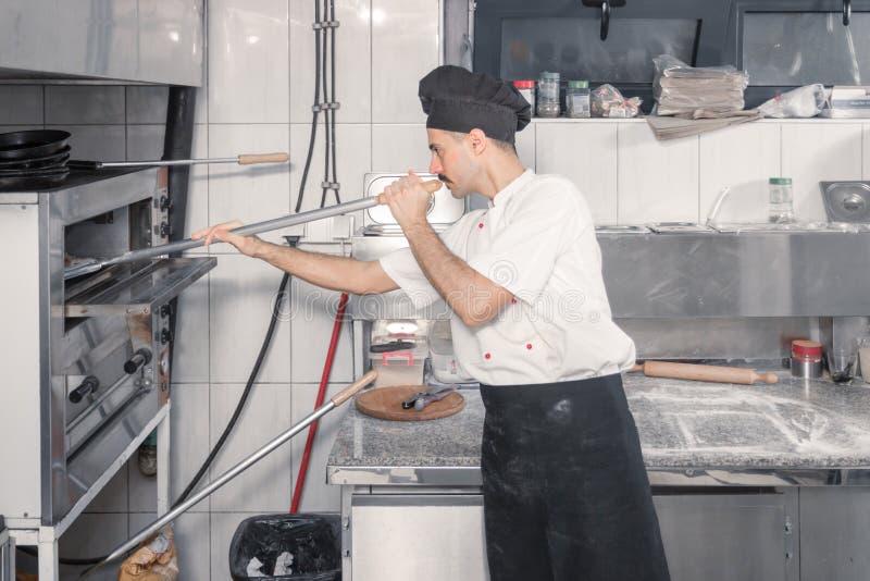 Kockugn, kommersiellt kök arkivbild