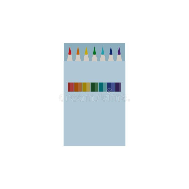 Kocowanie Elegancki Kolorowy ołówek ilustracji