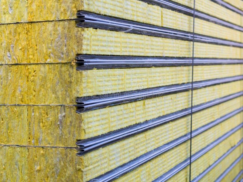 Kocowanie kanapki panelu podtrzymywalny izolujący Włókno materiał dla ściennego budynku obrazy royalty free
