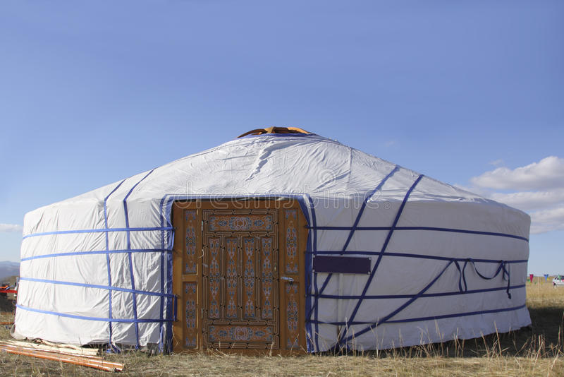 Koczownika świąteczny Namiot S Zdjęcia Royalty Free
