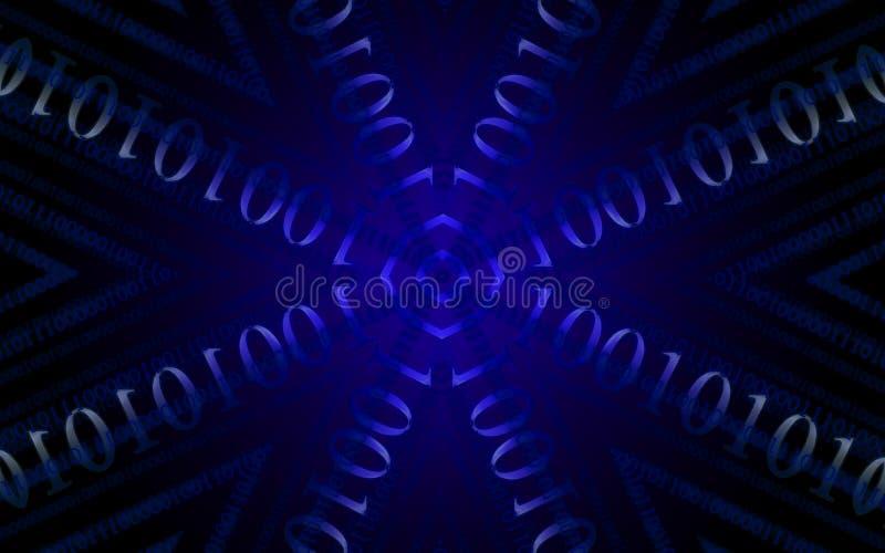 kod binarna błękitny gwiazda ilustracji
