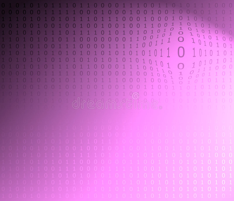 kod binarnego konsystencja ilustracja wektor