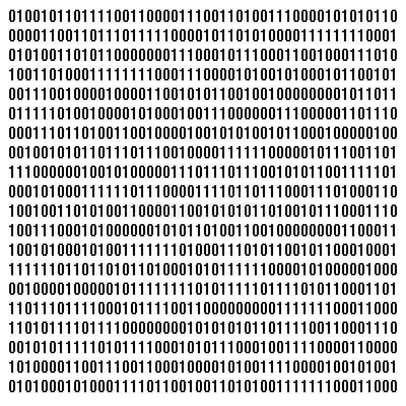 kod binarny zdjęcie stock