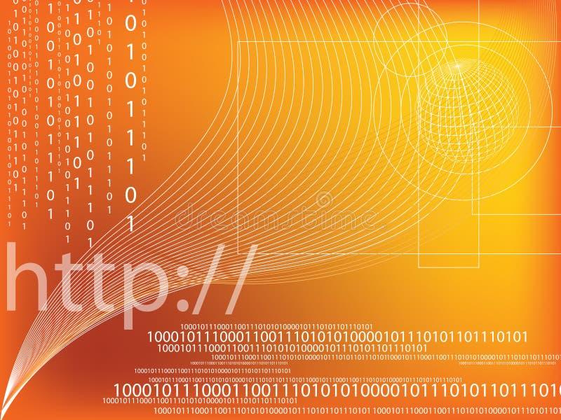 kod binarny ilustracja wektor