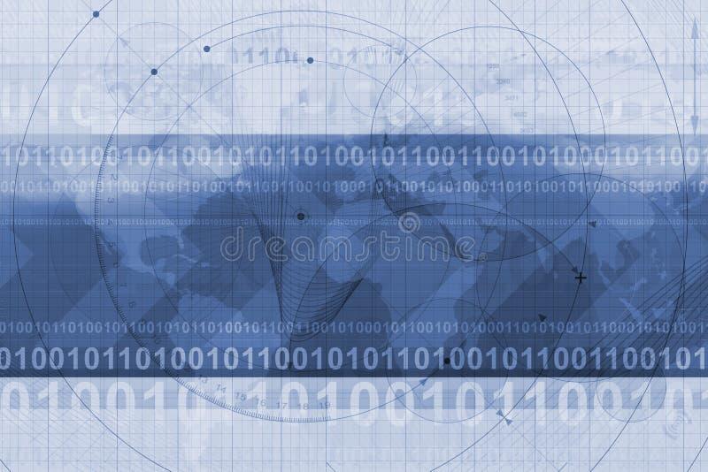 kod binarny tło ilustracji