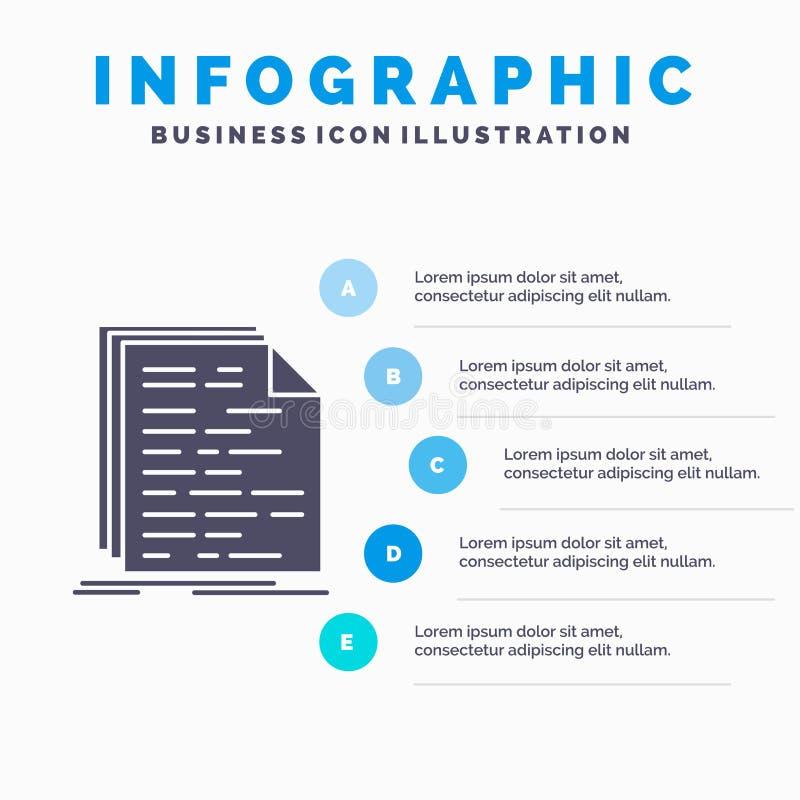 Kod, cyfrowanie, doc, programowanie, pisma Infographics szablon dla strony internetowej i prezentacja, glif Szara ikona z B??kitn ilustracji