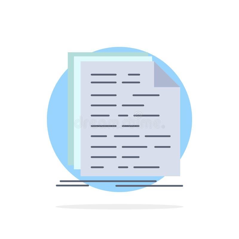 Kod, cyfrowanie, doc, programowanie, pismo koloru ikony Płaski wektor ilustracja wektor