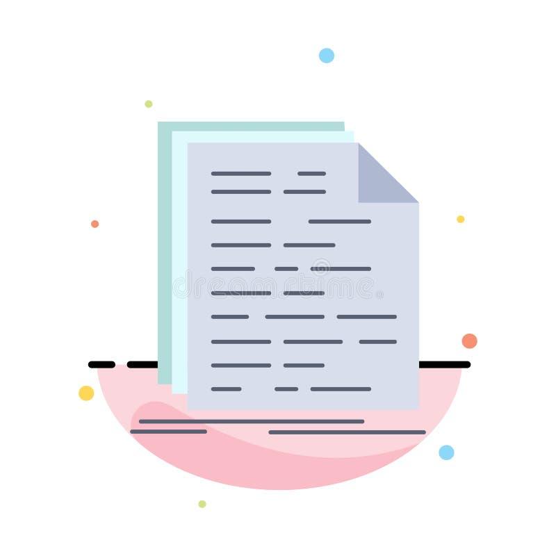 Kod, cyfrowanie, doc, programowanie, pismo koloru ikony Płaski wektor royalty ilustracja