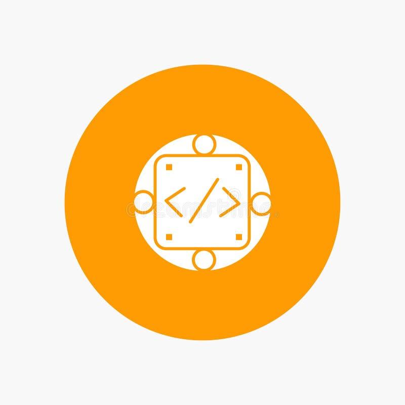Kod egen, genomförande, ledning, produkt stock illustrationer