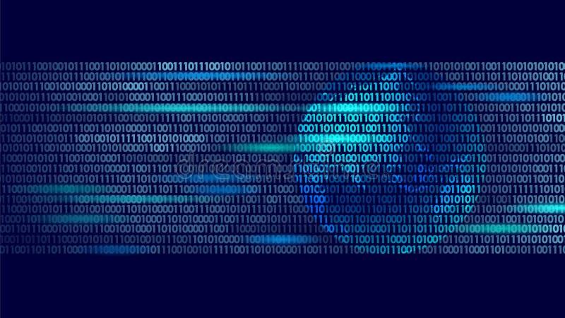 Kod för utbyte för data för planetjord global binär Affär för attack för cyber för personlig information om säkerhetsbetalning bl vektor illustrationer