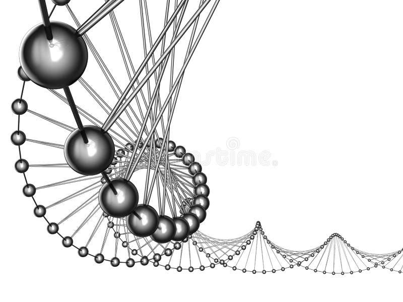 kod genetyczny royalty ilustracja