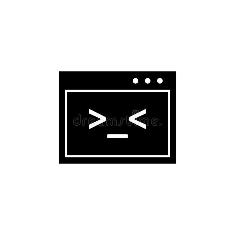 Kod, pismo, Unix ikona Znaki i symbole mogą używać dla sieci, logo, mobilny app, UI, UX royalty ilustracja