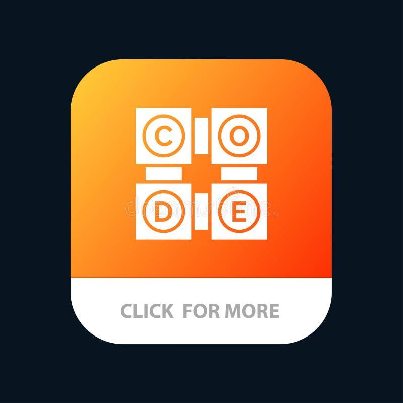 Kod, uczenie, kodu uczenie, edukacji App ikony Mobilny projekt ilustracji