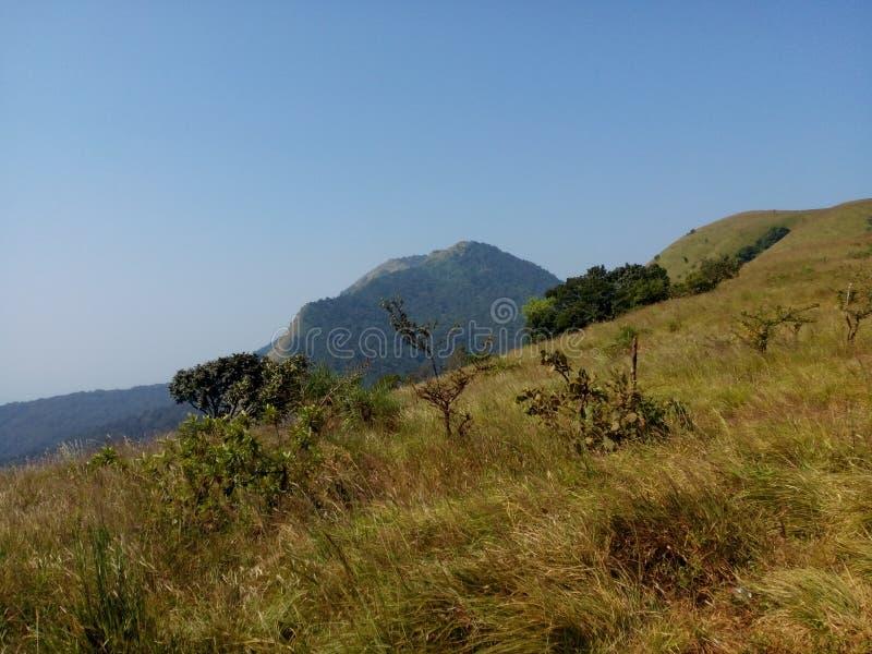 Kodachadri小山驻地印度 免版税库存图片