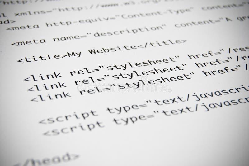 kodad HTMLet page arkivbild