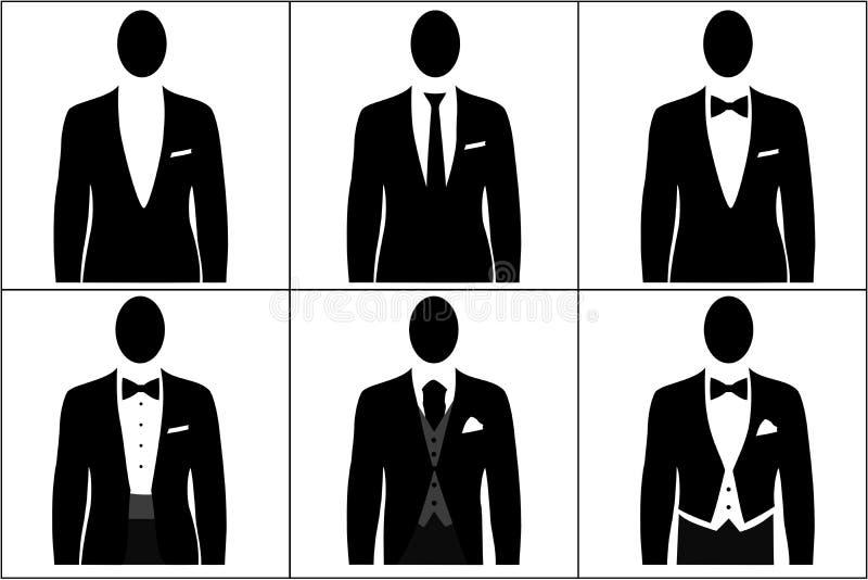 kodad klänningmän royaltyfri illustrationer