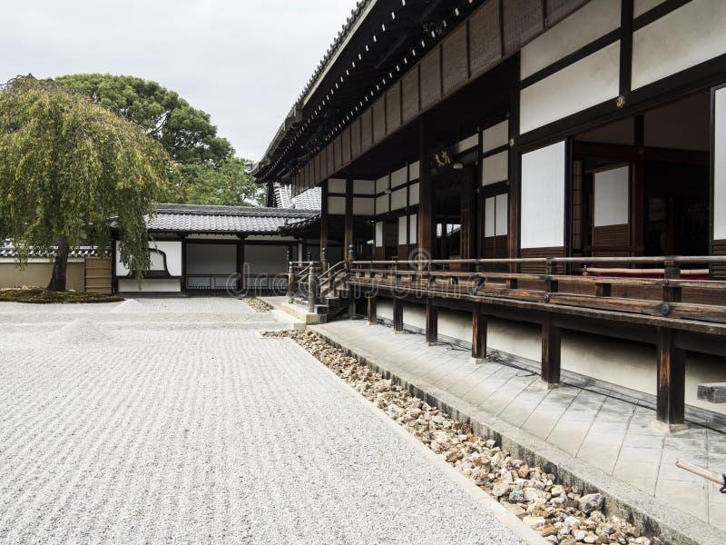 Kodaiji寺庙小卵石庭院 库存图片