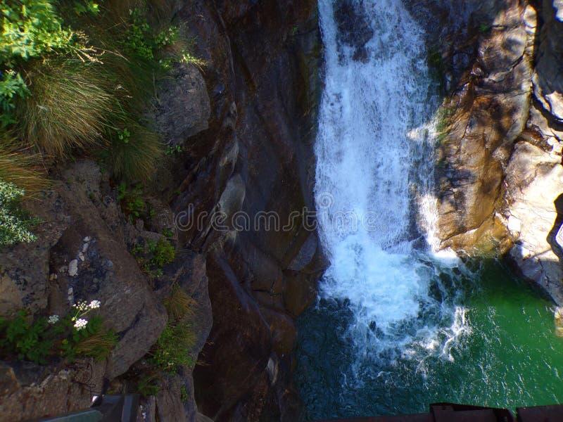 Waterfall detail Valle Antrona lake Italy royalty free stock photos
