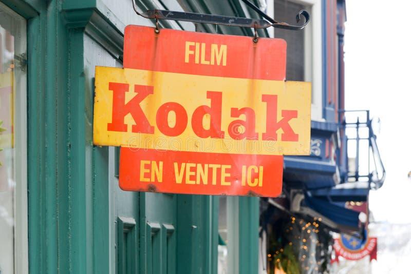 Kodak filment le signe image libre de droits