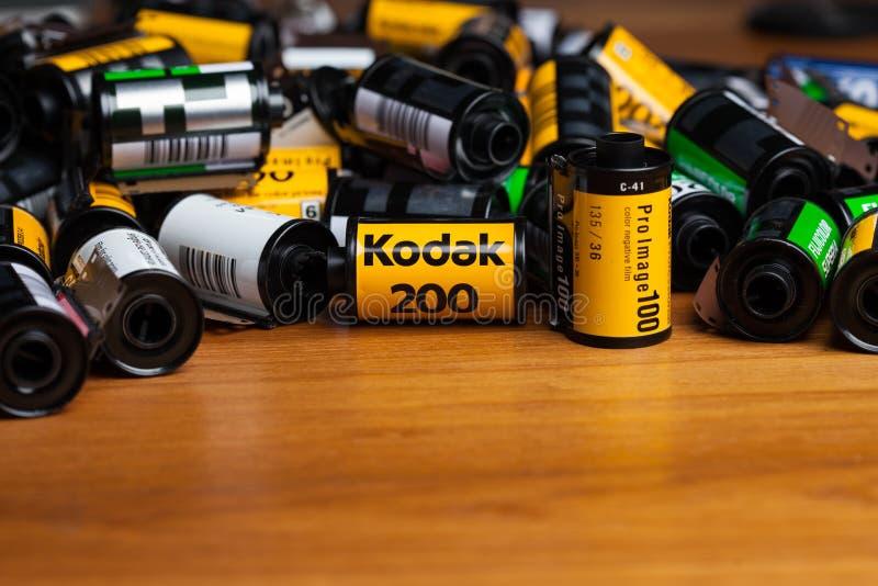 Kodak-films royalty-vrije stock fotografie