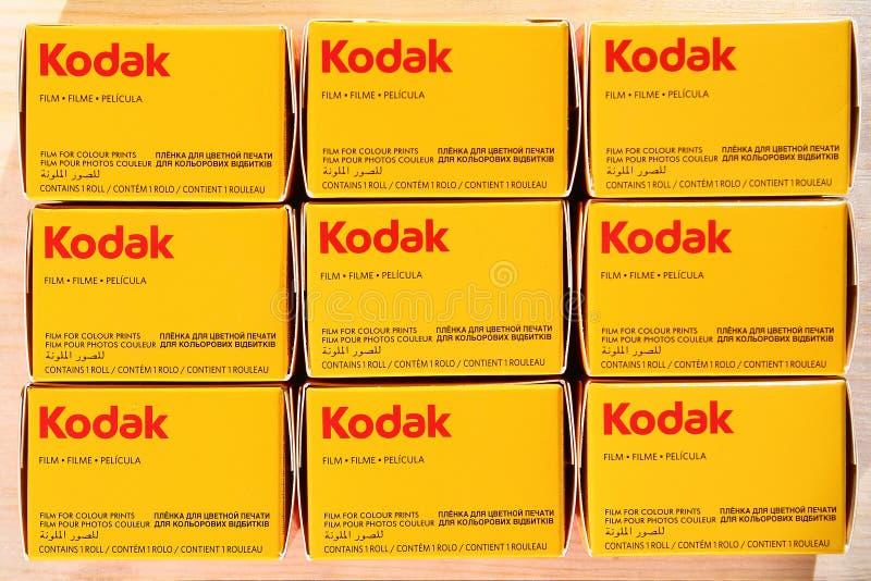 KODAK-films - analoge fotografie stock afbeeldingen