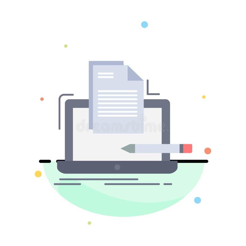 Koder, cyfrowanie, komputer, lista, papierowy Płaski kolor ikony wektor ilustracja wektor
